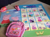 Peppa pig posters and child rucksack