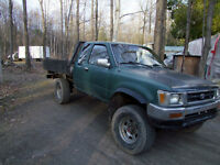 1991 Toyota sr5 king cab plate forme 6x8 suspension renforcie