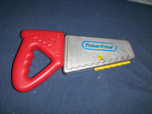 VINTAGE FISHER PRICE TOY SAW-1990-NO. 7160-COLLECTIBLE!
