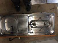 Oven / sink for caravan