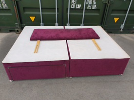 4ft 6 double bed purple