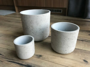 Concrete Flower / Plant Pots, Set of 3