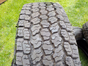 2017 Goodyear Wrangler tires LT245/70R/17 A/T Adventure, E rated