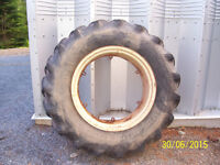 Tractor tire & spare rim for sale