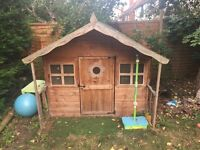 Wooden out door playhouse