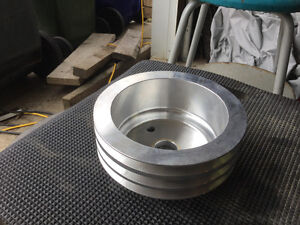 New chrome crankshaft pulley 3 grooves
