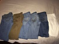 HOLLISTER jeans  and shorts LOT!!!!!