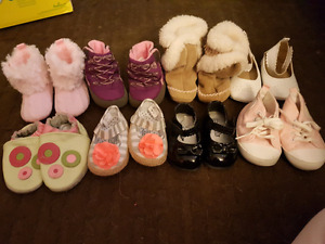 Size 1-2 baby girl shoes