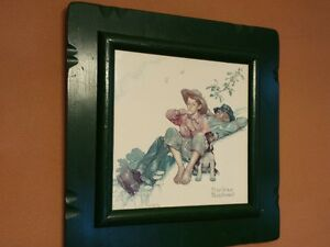 Norman Rockwell GRANDPA AND ME PICKING DAISIES Framed Print