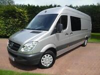 2012 Mercedes-Benz Sprinter 316 2.1 CDI LWB FACTORY FITTED 6 SEAT CREW VAN