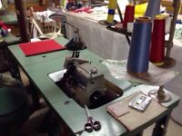 Sewing equipment for sale.
