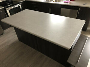 Kitchen countertop and double sink
