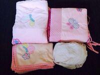 Baby girl cot bedding set