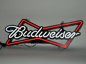 "Budweiser ""Neon"" style (LED back-lit) bar sign. Like new!"
