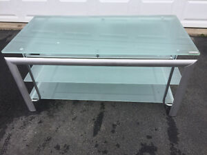 "TV stand suitable for up to 60"". Wide TV"