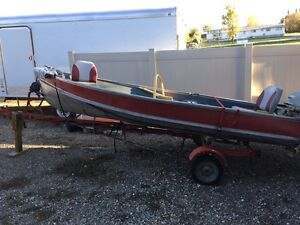 14 foot older aluminum fishing boat