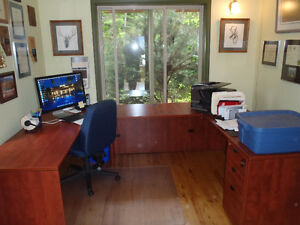 Large Desk and matching Bookcase