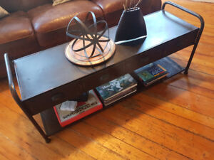 INDUSTRIAL coffee table/tv stand/bench
