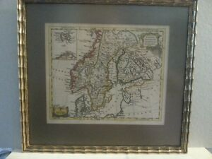 ANTIQUE MAP Nordic Countries (1760) by T. Jeffreys