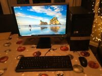 """Windows 10 Pro, HP DX2400 MicroTower and 22"""" Monitor, 4GB, 160GB"""
