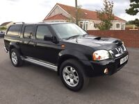 Nissan navara d22 double cab 4x4 pick up, 2004 (54) reg, tested till June, leather, alloy wheels,