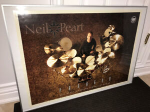 Rush - Neil Peart - Sabian Cymbals Framed Poster