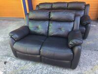 Harveys Visper 3+2seater sofa set leather reclining ex display