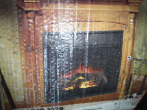 Fireplace mantle and Surround, Maple finish NEW