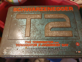 The Terminator T2 VHS Video box set tin