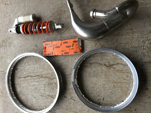 KTM 85 BRAND NEW TAKE OFFS AND SHOCK