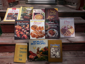 LOT OF 11  COOK BOOKS X-COND $ 5.00 FOR ALL
