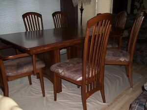 Set de cuisine salle à manger 8 mx en bois d'érable massif