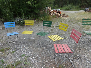 Vintage (almost antique) folding garden/patio chairs Yukon image 3
