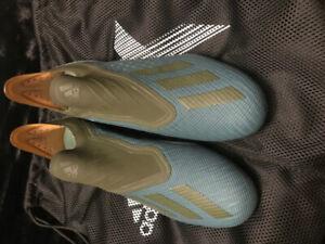 Adidas X 18+ Purespeed FG Soccer Cleats - Raw Green (Sz. 9)