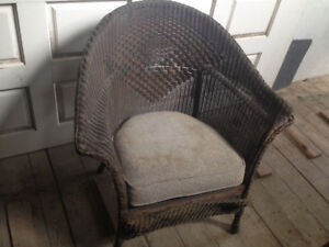 Antique wicker chairs (2)
