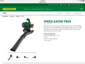 WEED EATER 25  cc  Blower