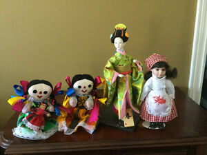 Collection of international dolls
