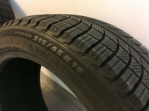 TWO Michelin X-Ice Xi3 - 215/45 R18 tires - $300