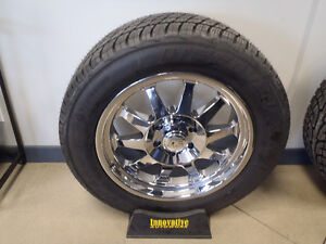 "20"" Wheel and Tire Combo 20x9 6x139.7 6x5.5 275/55R20 Cooper H/T Plus Tires Chevy, GMC"