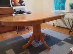 Sturdy Wooden Table and 2 Chairs