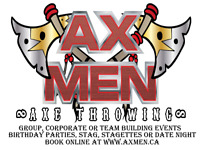 Axe Throwing Birthday Parties 10-17yrs