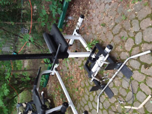 Northern Lights cable rowing machine with 3 pull down bars.