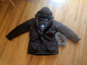 Jack Wolfskin Brown Down Winter Jacket