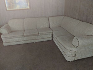 Two piece sectional with pull out bed
