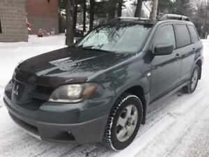 2003 Mitsubishi Outlander AWD...4-cyl, equipped, remote starter