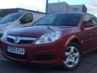2008 (08) VAUXHALL VECTRA 1.8 PETROLL BHP 140*LOW MILEAGE*2 KEYS*LONG MOT*P/X WELCOME* GOOD EXAMPLE