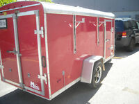 2010 stealth ,LLC Utility enclosed 5x12 SAE.  Cargo trailer red