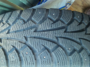Studded Snow Tires on Wheels 205 70 R15