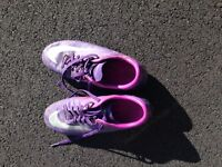 Purple Nike Cleats size 7