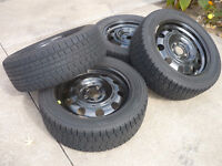 225/55R17 Winter Tires & Rims - AS NEW
